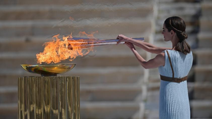Tokio 2020: Grecia hace la entrega de la llama olímpica sin público por el COVID - 19 (FOTOS)
