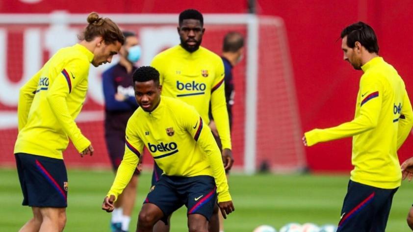 Lionel Messi volvió a entrenar con el Barcelona y estaría listo para volver el fin de semana (FOTOS Y VIDEO)