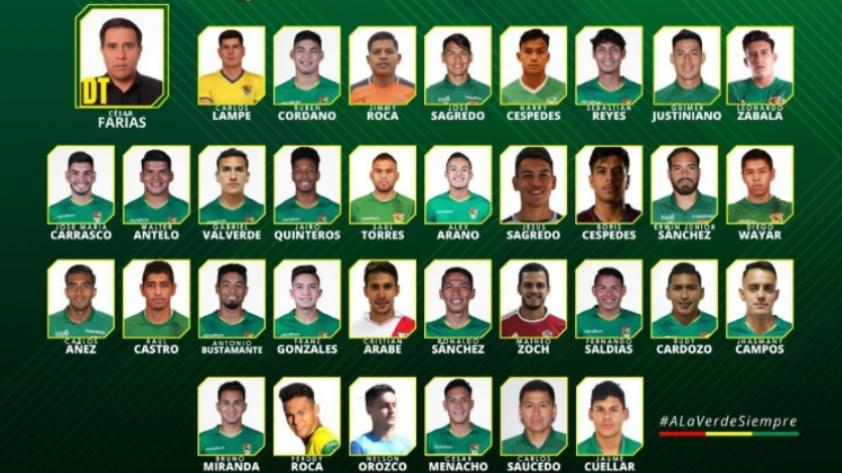 Pensando en Qatar 2022: Bolivia presentó su lista de convocados con miras a las Eliminatorias