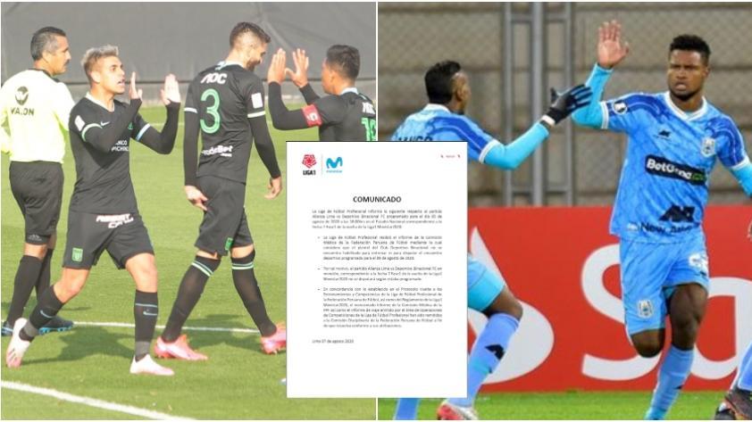CONFIRMADO: Alianza Lima vs. Binacional fue suspendido en el retorno de la Liga 1 Movistar