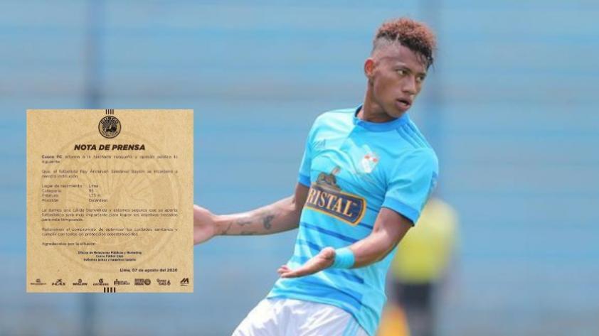 Tiene nuevo club: Ray Sandoval es jugador de Cusco FC.
