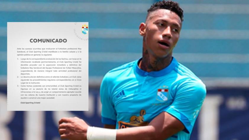 Sporting Cristal: Ray Sandoval fue separado definitivamente del club 'rimense'