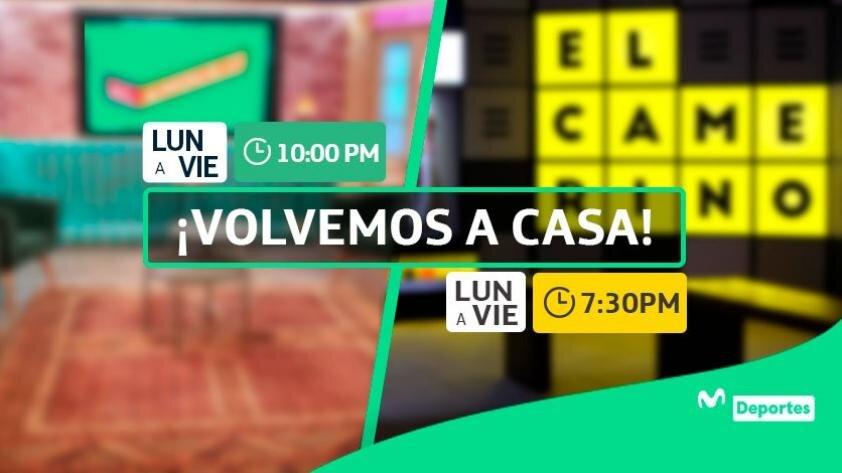 Regreso a casa: Al Ángulo y El Camerino retornan EN VIVO y a los sets de Movistar Deportes