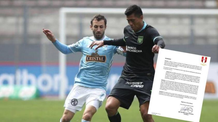 COMUNICADO: La FPF anunció cambios en el descenso de la Liga 1 Movistar