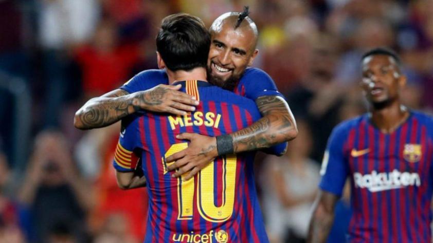El emotivo mensaje de despedida de Lionel Messi para Arturo Vidal