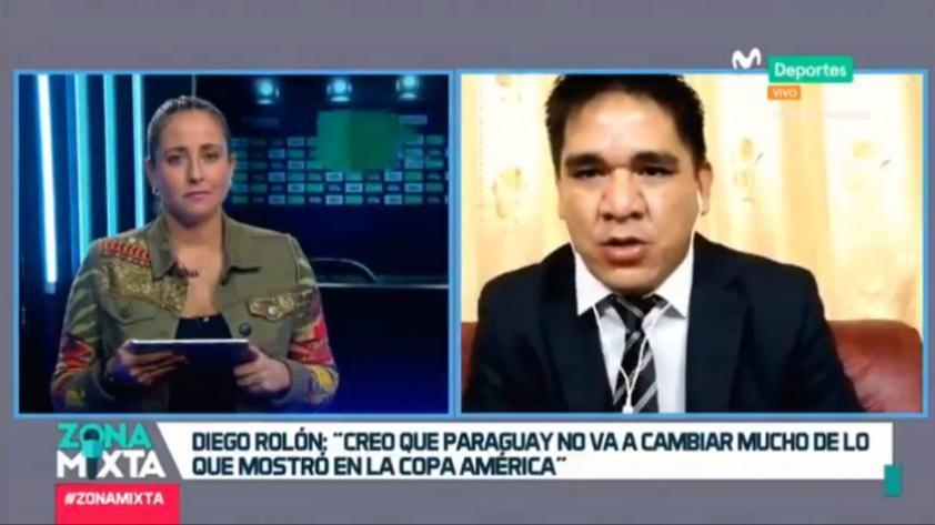"""Diego Rolón en Zona Mixta: """"Creo que Paraguay no va a cambiar mucho de lo que mostró en la Copa América"""" (VIDEO)"""