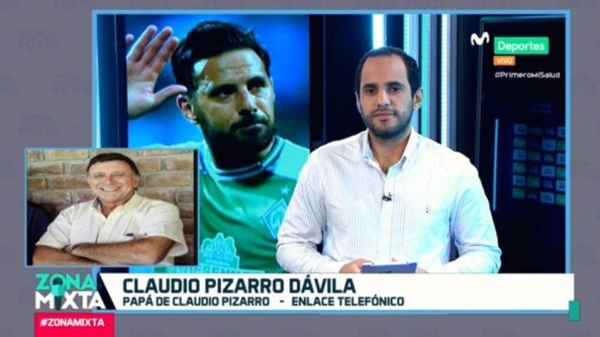 ¿Claudio Pizarro a Alianza Lima? Esto respondió su padre en Zona Mixta (VIDEO)