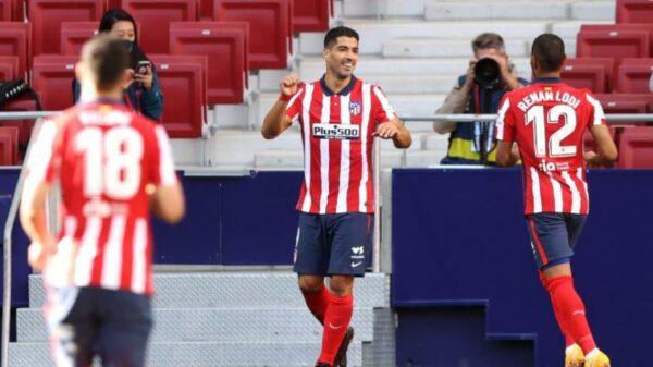 Debut perfecto: Luis Suárez anotó dos goles en la victoria del Atlético de Madrid (VIDEO)