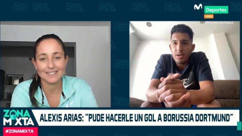 """Alexis Arias en Zona Mixta: """"Pasé unas pruebas en el Twente y pude hacerle un gol al Borussia Dortmund"""" (VIDEO)"""