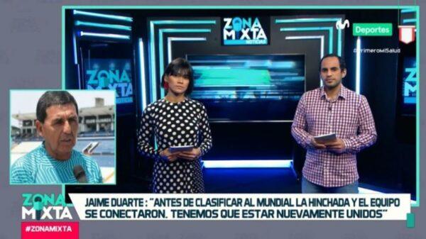 """Jaime Duarte en Zona Mixta:""""Antes de clasificar al Mundial la hinchada y el equipo se conectaron. Debemos estar unidos nuevamente"""""""