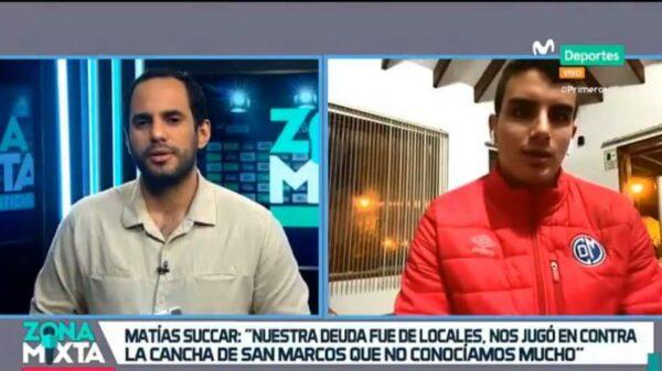 """Matías Succar en Zona Mixta: """"Estoy muy agradecido con las palabras de Gareca, me motivaron a trabajar más duro"""""""