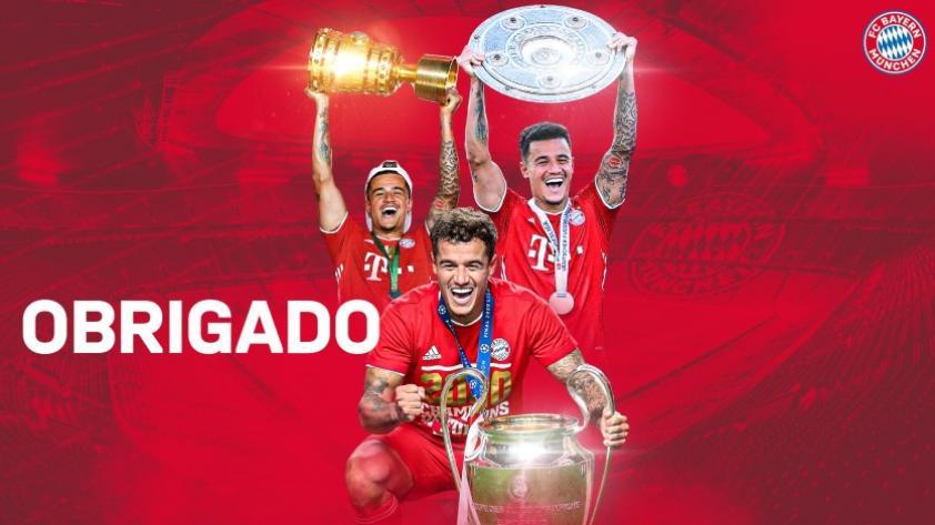 Adiós Philippe: Bayern Munich se despidió oficialmente de Coutinho y le dedicó un emotivo mensaje