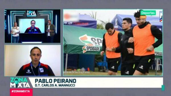 """Pablo Peirano en Zona Mixta: """"Mannucci es un equipo que es rápido, tiene una dinámica que se puede llevar a un nivel más alto"""""""