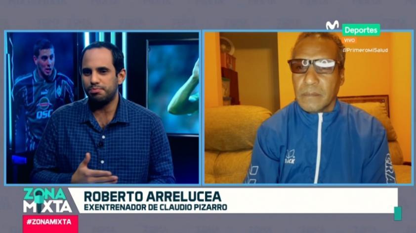 """Roberto Arrelucea en Zona Mixta: """"Vi en Claudio Pizarro a un joven con una proyección muy grande"""" (VIDEO)"""