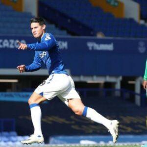 Golazo de zurda: James Rodríguez anotó en la victoria del Everton