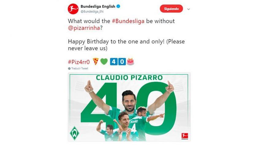 Claudio Pizarro cumple 40 años: los saludos al delantero por su cumpleaños (FOTOS Y VIDEOS)