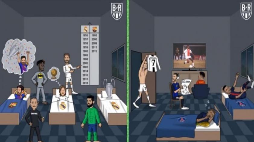 Cristiano Ronaldo fue víctima de un ataque de memes tras su expulsión en Champions League (FOTOS)