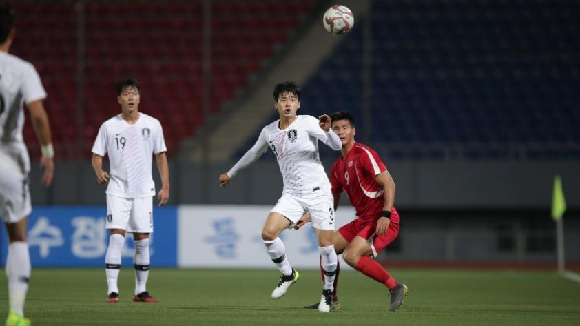 Tan histórico como desolado: el partido entre Corea del Norte y Corea del Sur jugado en Pionyang (FOTOS)