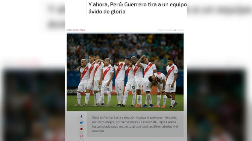 Perú vs. Chile: así informa la prensa chilena a dos días del partido por las semifinales de la Copa América