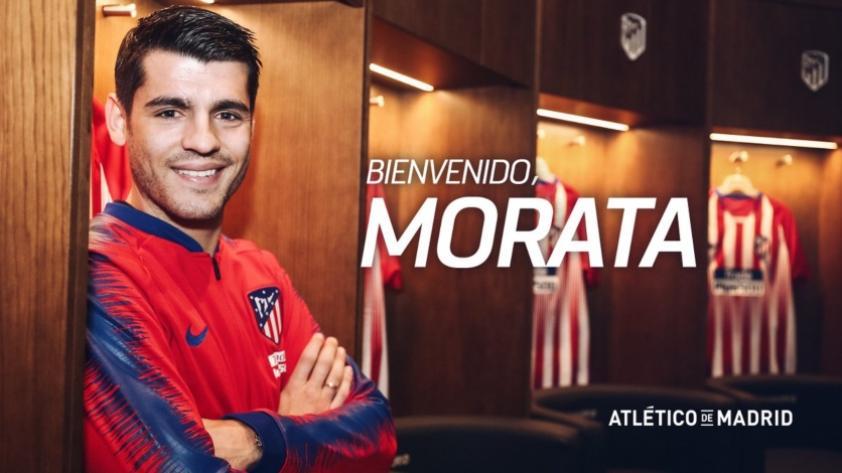 ¡Por fin se hizo oficial! Álvaro Morata fue presentado como nuevo delantero del Atlético de Madrid (FOTOS)